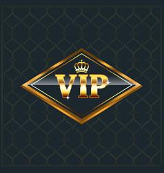 Luxury creative golden vip label premium label or vector