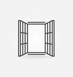 modern window icon symbol in thin line vector image