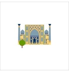 Muslim temple flat vector image