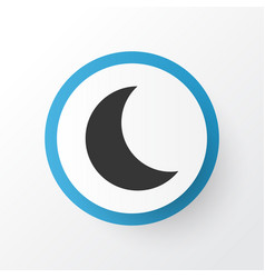 night icon symbol premium quality isolated moon vector image