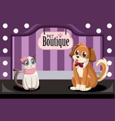 pet boutique vector image