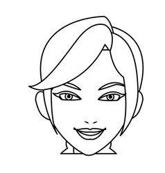 Portrait woman business professional person line vector