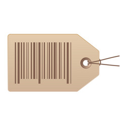 price tag with bar code on white background stock vector image