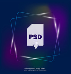 Psd download neon light icon psd button layers vector