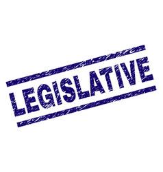 Scratched textured legislative stamp seal vector