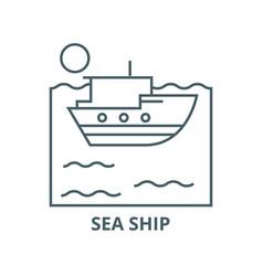 sea ship line icon linear concept outline vector image