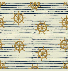 Seamless pattern gold wheels and stripes vector