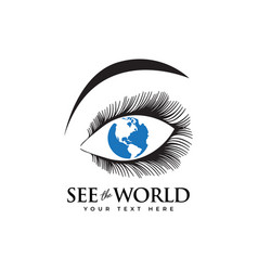 see world graphic design template isolated vector image