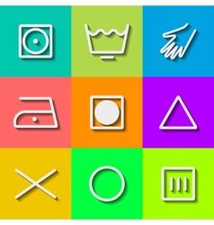 Set of Flat Wash Icons vector image