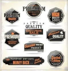 Set retro vintage labels vector