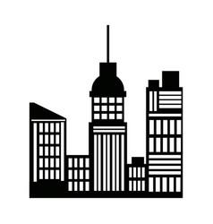 Silhouette buildings skyline skyscrapers vector
