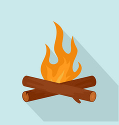 simple camp fire icon flat style vector image