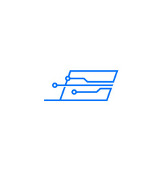 smart laptop tech logo icon vector image