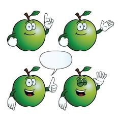 Smiling apple set vector image