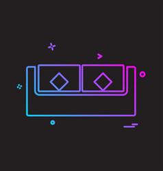 sofa icon design vector image