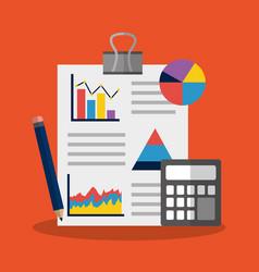 Statistics data business image vector