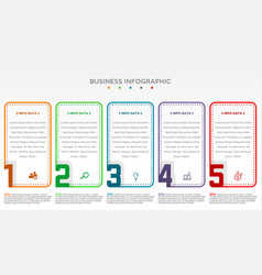 step infographic with 5 options vector image