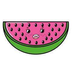 summer watermelon cartoon vector image