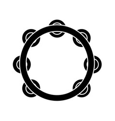 tambourine icon black sign vector image