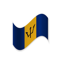 the flag of barbados vector image