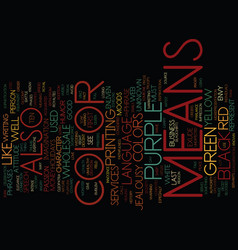 The language of color text background word cloud vector