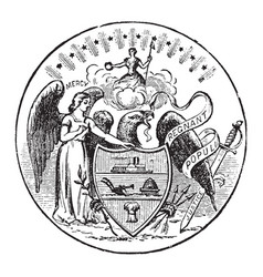 The official seal of the us state of arkansas in vector
