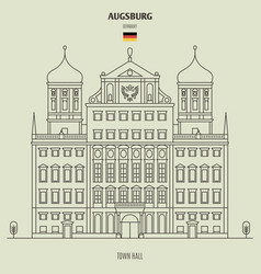 Town hall of augsburg vector