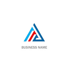triangle line colored business logo vector image