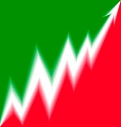 Up Arrow stylized Italian flag blur vector image