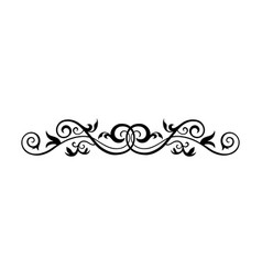 Vintage calligraphic swirl - floral wicker vector
