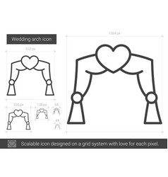 Wedding arch line icon vector