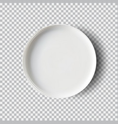 white plate isolated on transparent background vector image