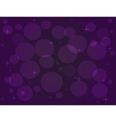 With bokeh effect in purple tones vector