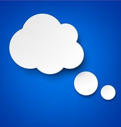 Paper white clouds on blue vector image