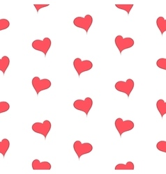 The simple geometry of red hearts on a white vector image vector image