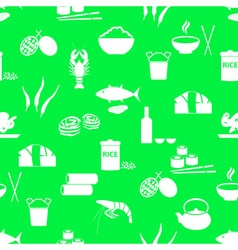 asian food theme set of simple icons green vector image vector image
