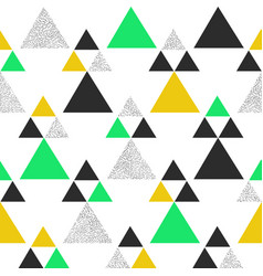 green and yellow geometric triangle background vector image vector image