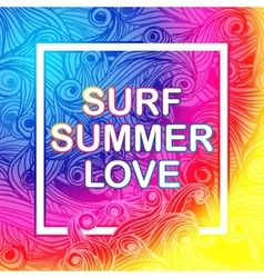Here Comes The Summer Typographic Poster vector image
