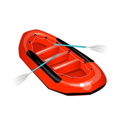 icon rubber boat vector image vector image