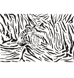 Tiger pattern background vector