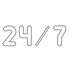 247 service the black color icon vector image vector image