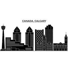 canada calgary architecture city skyline vector image