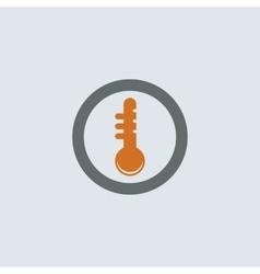 Gray-orange Thermometer Round Icon vector image