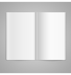 Magazine double page spread with blank pages vector image