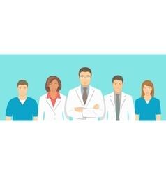 Medical clinic doctors team flat vector image