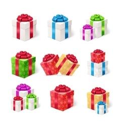 Present Boxes Set vector image