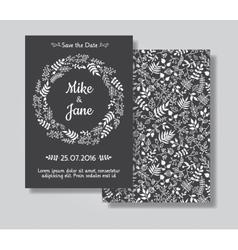 Rustic wedding invitation card set vector image vector image