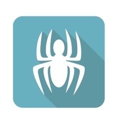 Spider icon square vector