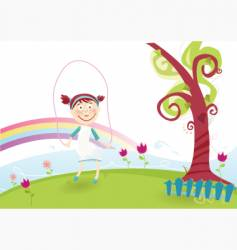 spring is illustration vector image vector image