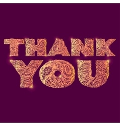 Thank you quote lettering vector